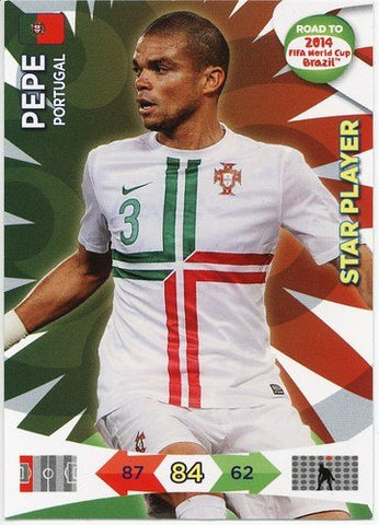 Adrenalyn XL Road To 2014 World Cup Brazil #151 Pepe Star Player