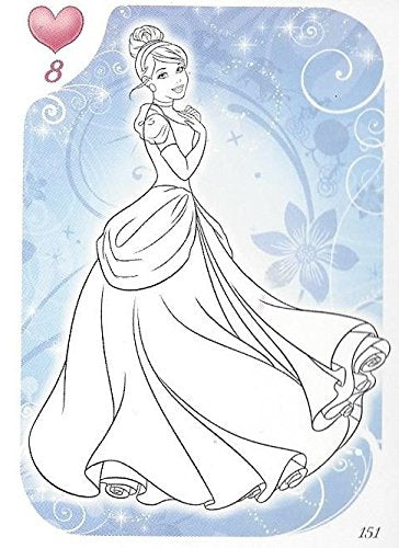 Disney Princess Glitter Card No.151