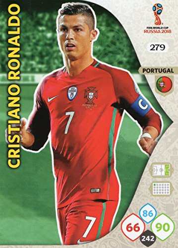 Panini ADRENALYN XL FIFA WORLD CUP 2018 RUSSIA - CRISTIANO RONALDO BASE TRADING CARD #279 - PORTUGAL