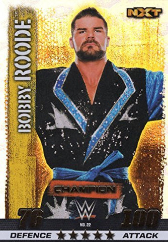 WWE SLAM ATTAX 10 - BOBBY ROODE 100 CLUB CHAMPION TRADING CARD - WRESTLING NXT