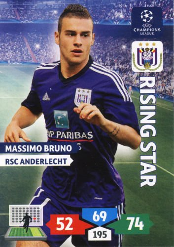 Champions League Adrenalyn XL 2013/2014 Massimo Bruno 13/14 Rising Star