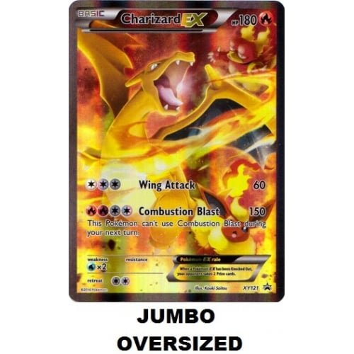 Pokemon JUMBO OVERSIZED Card Charizard ex XY121 Promo card Brand new