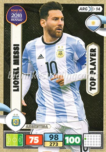 ROAD TO WORLD CUP 2018 LIONEL MESSI (ARGENTINA) TOP PLAYER CARD, PANINI ADRENALYN XL