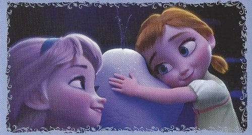 Disney Frozen Individual Young Elsa & Young Anna Sticker No.20