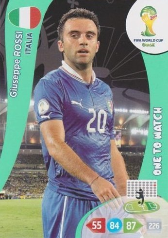 FIFA World Cup 2014 Brazil Adrenalyn XL Giuseppe Rossi One To Watch