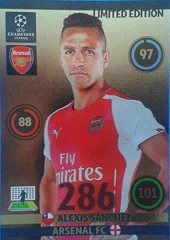 Champions League Adrenalyn XL 2014/2015 14/15 Alexis Sanchez 2014 Limited Edition