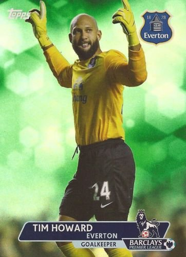 Premier Gold 2013 Tim Howard Everton Green Parallel Card
