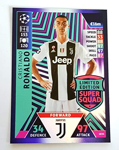 MATCH ATTAX CHAMPIONS LEAGUE 18/19 CRISTIANO RONALDO LIMITED EDITION TRADING CARD - JUVENTUS 18/19