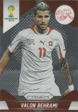 Panini Prizm World Cup Brazil 2014 Base Card # 187 Valon Behrami Switzerland