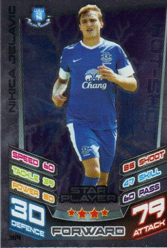 Match Attax 2012/2013 Star Player Card - 364 Everton NIKICA JELAVIC