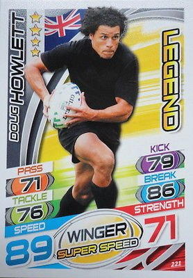 Topps Rugby Attax 2015 Doug Howlett Winger Legend Trading Card