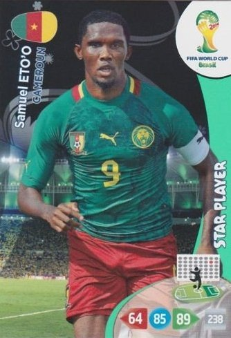 FIFA World Cup 2014 Brazil Adrenalyn XL Samuel Eto'o Star Player