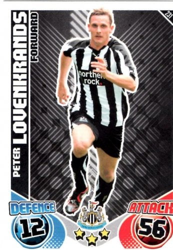 Peter LOVENKRANDS Newcastle Individual Match Attax 2010/11 Trading Card