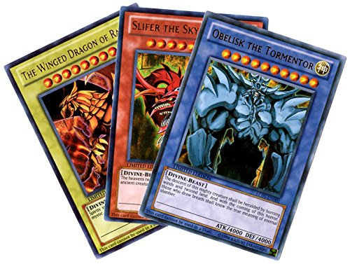 YuGiOh Legendary Collection Ultra Rare God Card Set of 3 Egyptian God Cards S...