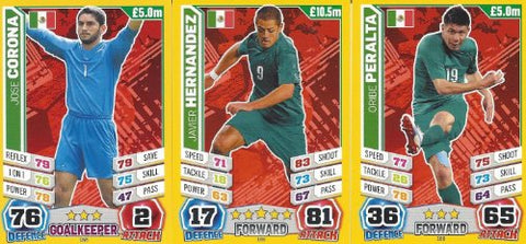 Match Attax England World Cup 2014 Mexico Base Card Team Set (3 Cards)