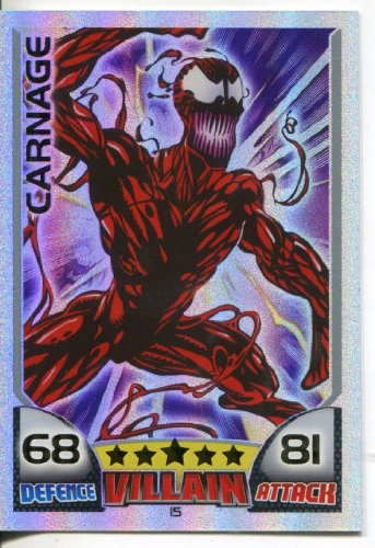 MARVEL HERO ATTAX ULTRA RARE RAINBOW CARD #15 CARNAGE