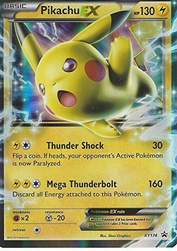 Pokemon Pikachu EX XY174 Promo Full Art Single Trading card