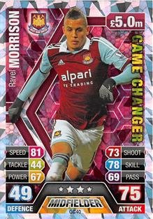 Match Attax Extra 2013/2014 Ravel Morrison Game Changer 13/14