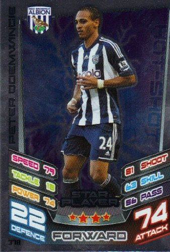 Match Attax 2012/2013 Star Player Card - 378 West Brom PETER ODEMWINGIE