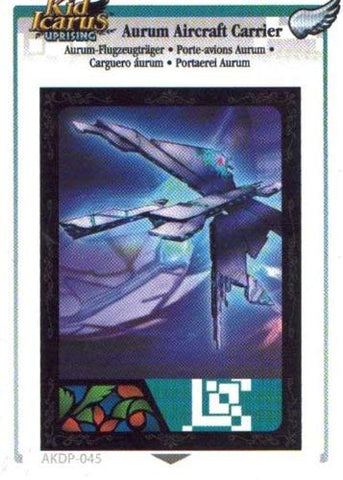 Adrenalyn XL Kid Icarus Uprising AKDP 045 - Aurum Aircraft Carrier Silver Wing Rare Card