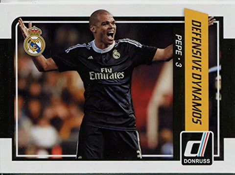 Donruss Soccer 2015 Defensive Dynamos Chase Card #8 Pepe