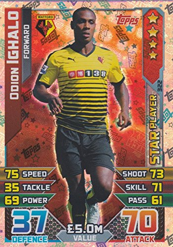 Match Attax 2015/2016 Odion Ighalo Star Player Trading Card 15/16