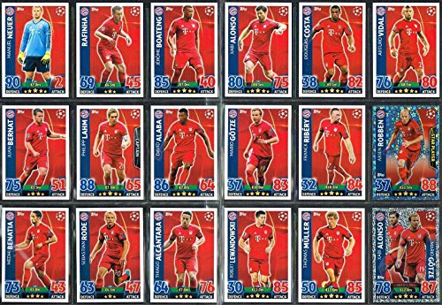 Topps Champions League Match Attax 15/16 Bayen Munich Team Base Set 2015/2016 Including Star Player & Duo Trading Cards