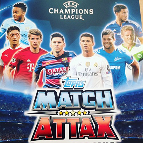Match Attax Champions League - 100 Random Cards (incl. 10 Guaranteed Shiny)