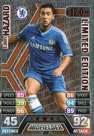 Match Attax 2013/2014 Eden Hazard Chelsea 13/14 Bronze Limited Edition