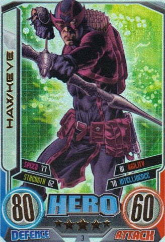 Marvel Hero Attax Series 2 The Avengers Rainbow Foil Card 3 Hawkeye