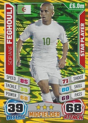Match Attax England World Cup 2014 Sofiane Feghouli Star Player