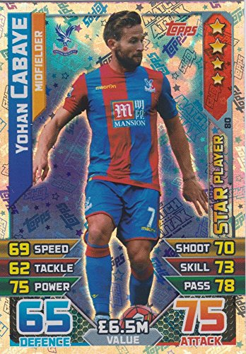 Match Attax 2015/2016 Yohan Cabaye Star Player Trading Card 15/16