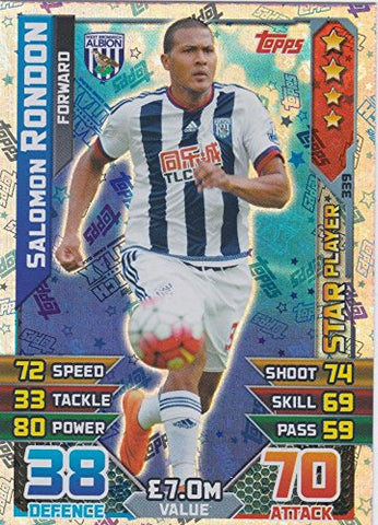 Match Attax 2015/2016 Salomon Rondon Star Player Trading Card 15/16