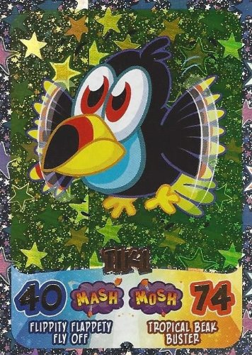 Moshi Monsters Moshling Madness Tiki Holographic Card