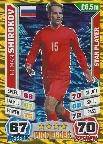 Match Attax England World Cup 2014 Roman Shirokov Star Player
