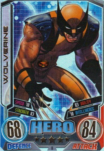 Marvel Hero Attax Series 2 The Avengers Rainbow Foil Card 8 Wolverine