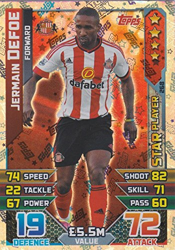 Match Attax 2015/2016 Jermain Defoe Star Player Trading Card 15/16