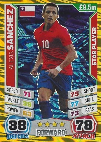 Match Attax England World Cup 2014 Alexis Sanchez Star Player