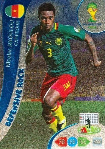 FIFA World Cup 2014 Brazil Adrenalyn XL Nicolas Nkoulou Defensive Rock