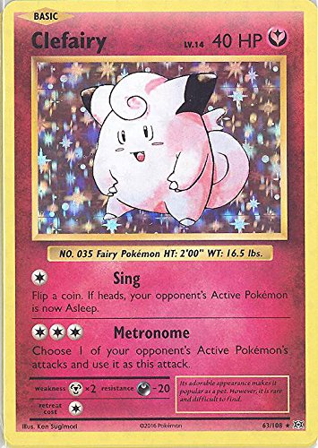 Pokemon - Clefairy (63/108) - XY Evolutions - Holo