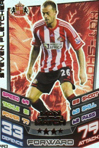 Match Attax 2012/2013 Man of the Match - 443 Sunderland STEVEN FLETCHER
