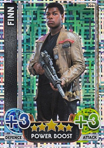 Disney Star Wars Force Attax The Force Awakens Holographic Foil Finn Trading Card (205)
