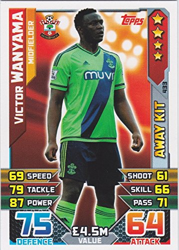 Match Attax 2015/2016 Victor Wanyama Southampton Away Kit Trading Card 15/16