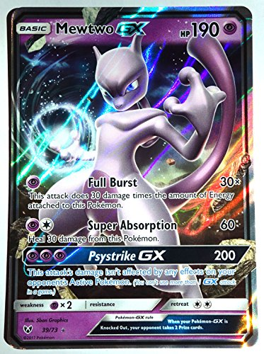 Mewtwo-GX - 39/73 - Ultra Rare - Sun & Moon: Shining Legends, New