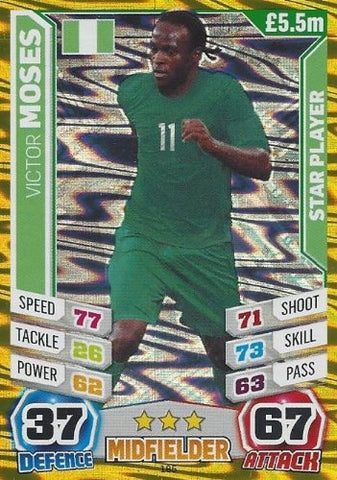 Match Attax England World Cup 2014 Victor Moses Star Player