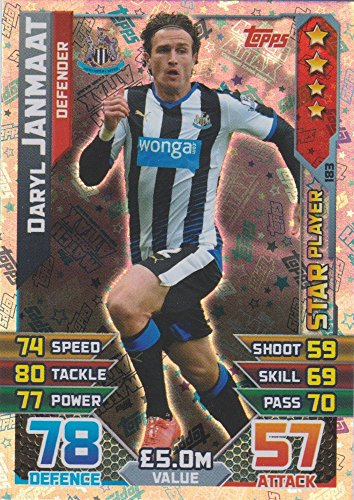 Match Attax 2015/2016 Daryl Janmaat Star Player Trading Card 15/16