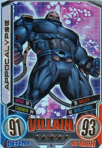 Marvel Hero Attax Series 2 The Avengers Rainbow Foil Card 9 Appocalypse