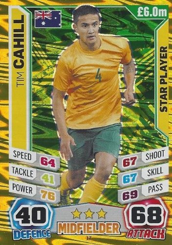Match Attax England World Cup 2014 Tim Cahill Star Player