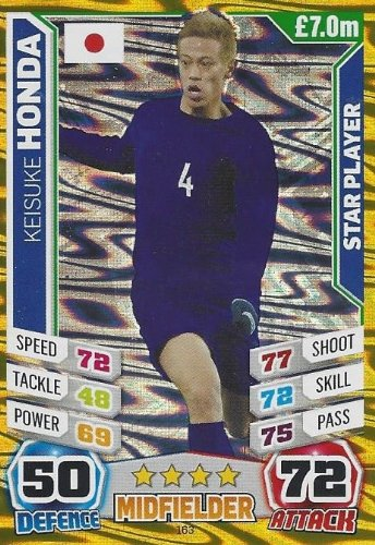 Match Attax England World Cup 2014 Keisuke Honda Star Player