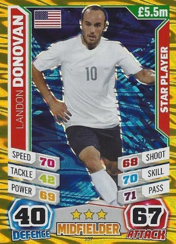 Match Attax England World Cup 2014 Landon Donovan Star Player
